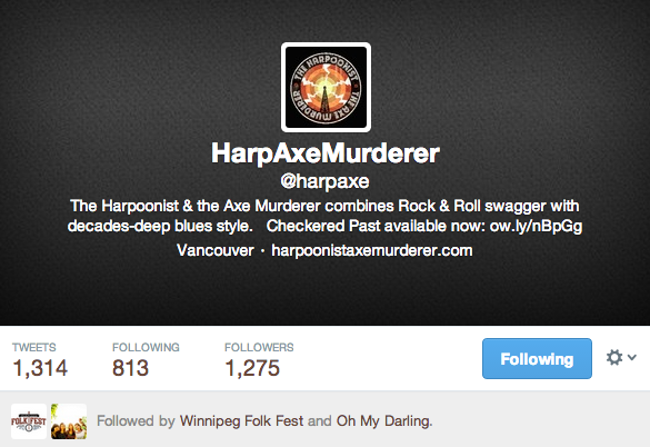 The Harpoonist and the Axe Murder Twitter Account