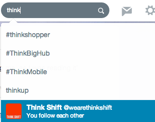 We Are Think Shift Twitter Account
